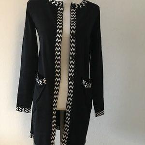 Diane von Furstenberg Silk Black & White Beaded S